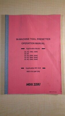 Mori Seiki Machine Tool Presetter Operation Manual Zl 15 20 25 35 45 M Mc 7d B5