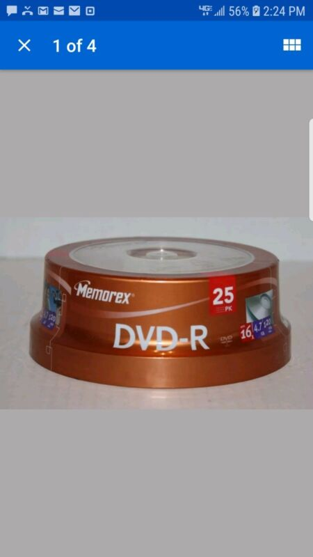 NEW MEMOREX 16x DVD-R 4.7GB 25 SPINDLE