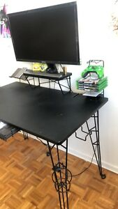 "28"" 4k gaming monitor and custom gaming desk"
