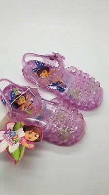 Dora The Explorer Pink Jelly Sandals Medium Size 7/8 #4636 Medium Pink Jelly
