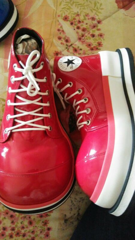Professional Clown Shoes Costume -New. Red