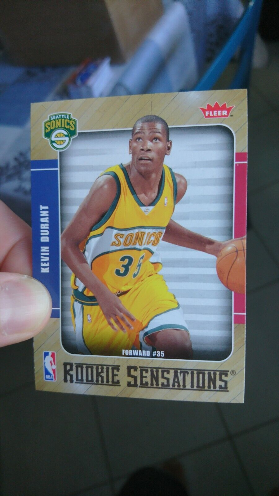 2007-08 fleer nba rookie card kevin durant #35 / seattle sonics