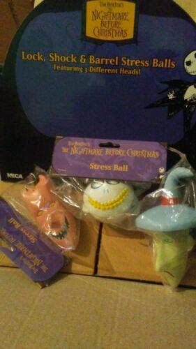 The Nightmare Before Christmas Lock, Shock & Barrel Stress Ball 3 pcs Lot