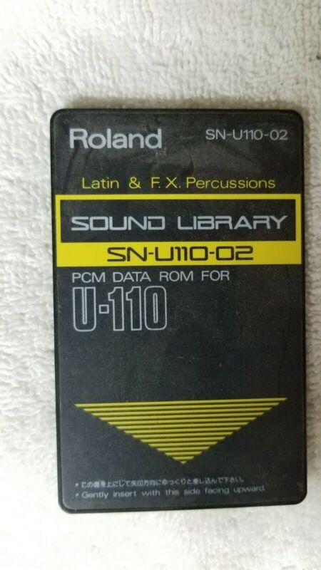 Roland SN-U110-02 Sound Library Latin And F.X. Percussion PCM Data ROM Card