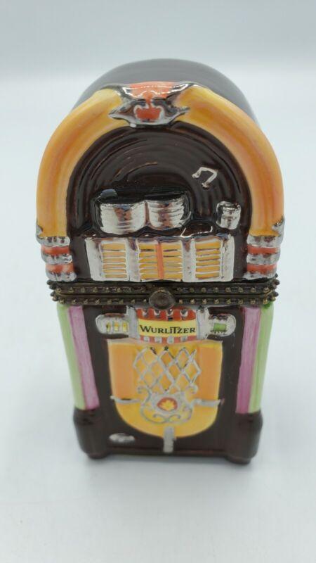 Wurlitzer 1998 Jukebox Trinket Box 3.5 x 1.75 inches collectible