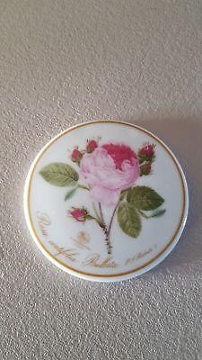 Schminkspiegel Hutschenreuther Rosendekor rund wunderschön CP4338