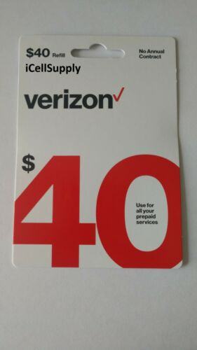 $40 Verizon Wireless Prepaid Refill Card - Fast Delivery Within 12 Hours