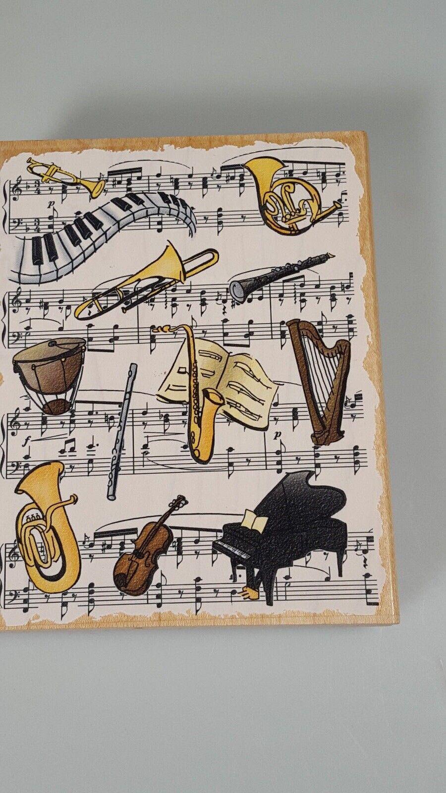 Music Book Rubber Stamp Sheet Music Teacher Stamp - $19.54