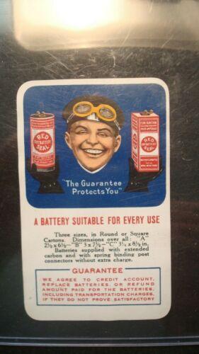 1917-18 RED SEAL DRY BATTERY Calendar - Rare Vintage Advertising - Valley Garage