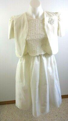 Sylvia Whyte Mädchen Weiß Engel Kommunion Braut Konfirmation Kleid Size 14