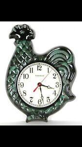 WANTED - BLUE MOUNTAIN POTTERY ROOSTER CLOCK