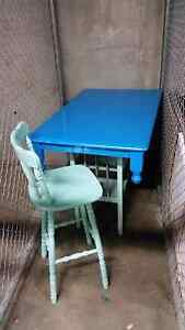 Island bench/dining table with 4 stools. Colorful! South Yarra Stonnington Area Preview