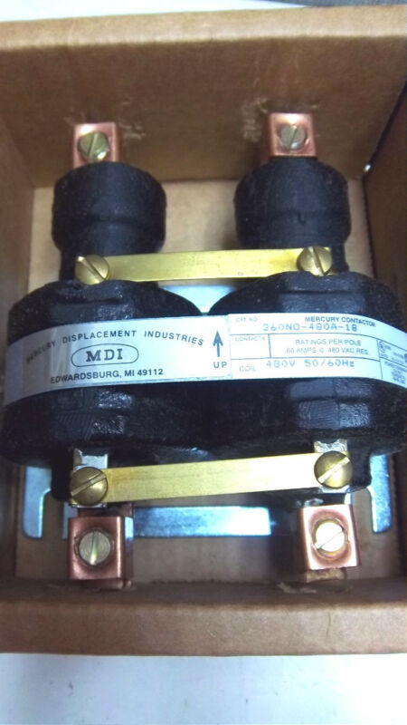 MDI MERCURY CONTACTOR 260NO-480A-18 NEW 260NO480A18