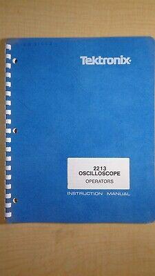 Tektronix 2213 Oscilloscope Operators Instruction Manual 7e B5