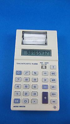 Vintage Texas Instrument  Thermal Micro Printer Calculator - TI-5008 - Works Gre