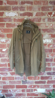 Jack London Brown Anorak Hooded Jacket S/M Fishtale Coat RRP $199