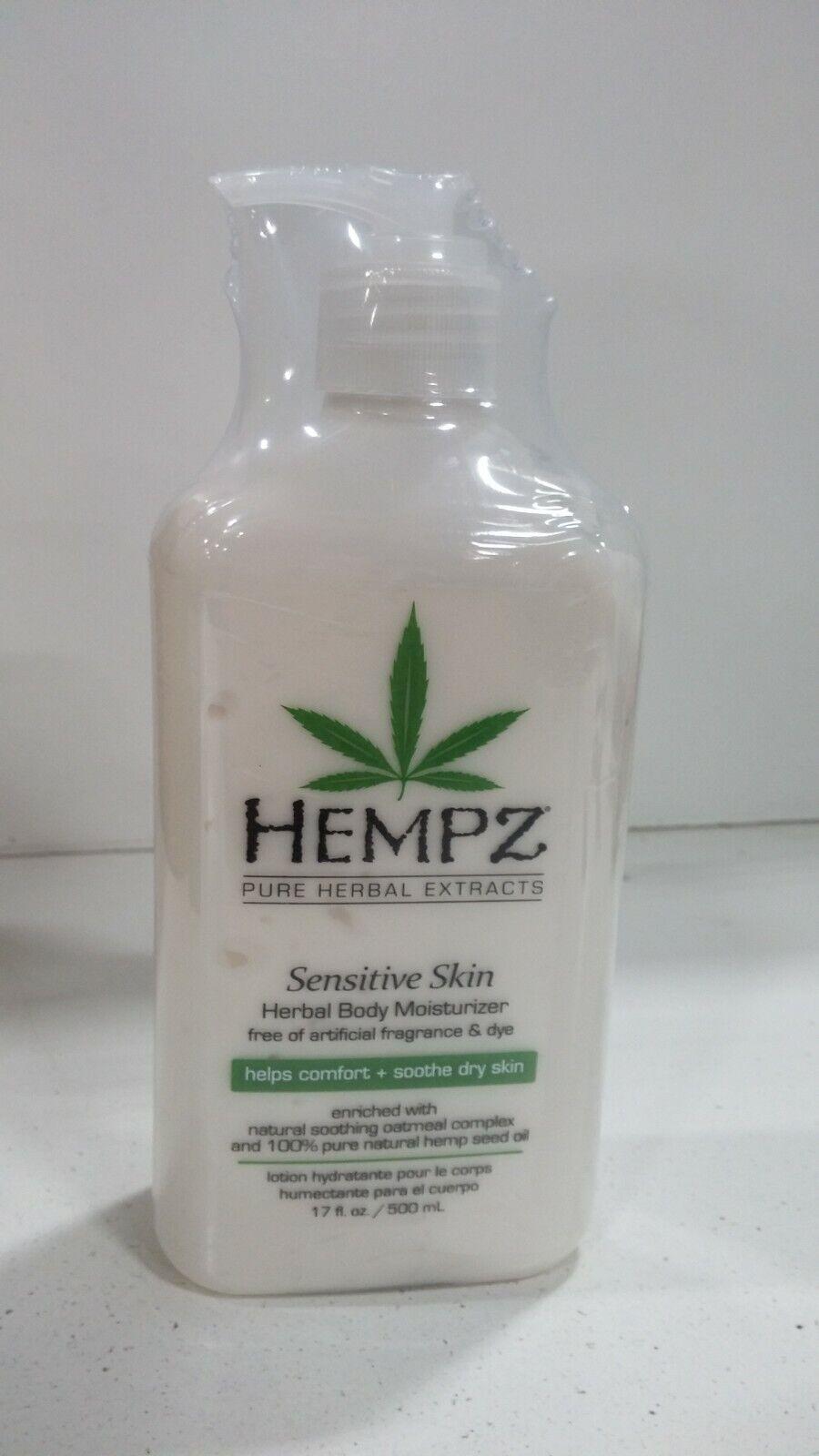 Hempz Sensitive Skin Herbal Body Moisturizer, Off White, 17