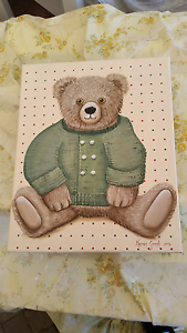 Hand painted Teddy bear picture Schofields Blacktown Area Preview