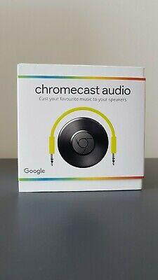 Google Chromecast Audio Media Streamer - Black  NEW IN BOX!