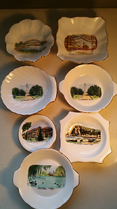 7 Old Bone China souvenir plates.1960s Woy Woy Gosford Area Preview