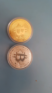 Gold and silver style bitcoin physical not digital currency