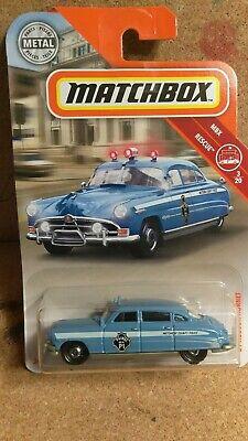 '51 Hudson Hornet Police * Blue *  2019 Matchbox Case M