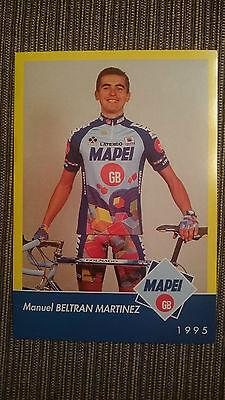 AK o.AG Manuel Beltran Martinez Team Mapei 1995 Rarität