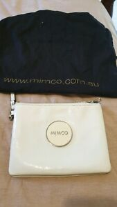Mimco bag pouch white
