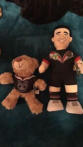 NZ warriors Toys - Shaun Johnson & Teddy In Jersey Georgetown Newcastle Area Preview