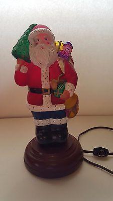 OLD WORLD CHRISTMAS Night LIGHT---PATRIOTIC SANTA--1996 MERCK EUC w/box