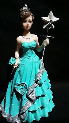 Mis Quince Años,Quinceañera Figurine,Fifteen Party Favor,Cake Topper,Sweet 16,15](Quinceañera Decorations)