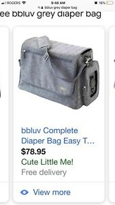 EUC bbluv diaper bag