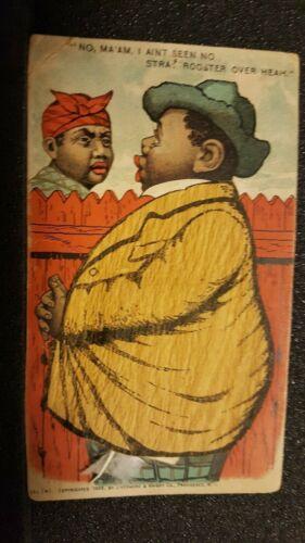 RARE 1900 African American Political  Mechanical Greeting / Postcard