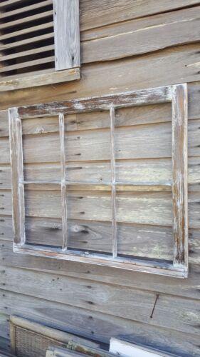 Architectural Salvage ANTIQUE WINDOW PANE FRAME RUSTIC DISTRESSED 6 PANE