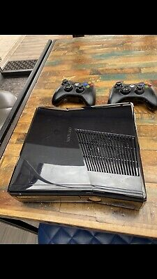 Xbox 360 Slim Console With 2 Controllers