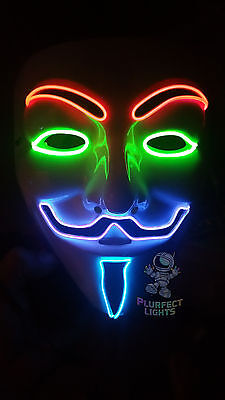 4-COLOR Guy Fawkes Vendetta Anonymous EDM Rave Festival Halloween Costume Mask! - Guy Fawkes Costume
