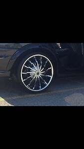 """20"""" STRADA STILETTO WHEELS AND LOW PROFILE TIRES FOR SALE $1200!"""