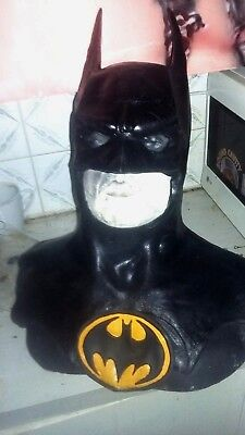 BATMAN-RETURNS-MICHAEL-KEATON-Life-Size FAN MADE-LATEX-COWL MASK - Keaton Batman Kostüm