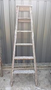 Vintage Wooden builders ladders Dulwich Hill Marrickville Area Preview