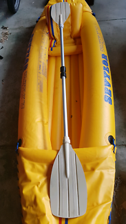 Blow up kayak with paddle
