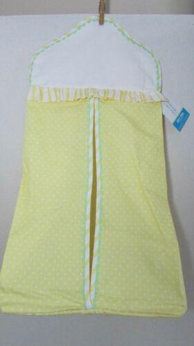 Patsy Aiken Chez Ami & Belle Diaper stacker New Yellow white polka dot No hanger