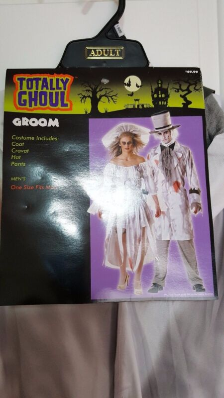 New Totally Ghoul Zombie Groom Silver Halloween Costume One Size Fit Most