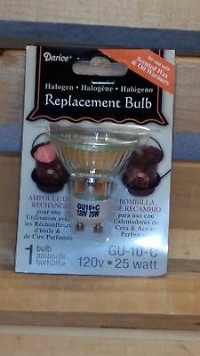 25 Watt Halogen Replacement Bulb, GU-10+C, NP5, 120V, For Tart ~ Wax (25 Watt Halogen Bulb For Wax Warmer)