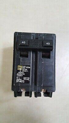 Square D Homeline Dp-4075 120240v Quad 40a 15a