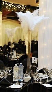 Wedding Centre Pieces with Ostrich Feathers