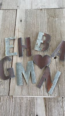Reclaimed Barn Tin | Small Metal Letters](Small Metal Tins)