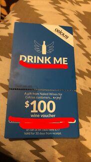 $100, wine voucher