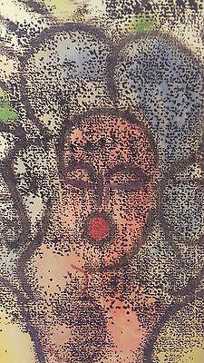 """Franz Haas Porträt von 1951 """" Frauen"""" """"Women"""" Monotypie Öl signiert Unikat 964"""