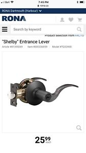 Shelby entrance lever (door handle) from RONA