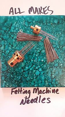 All Makes Felting Machine Needles 12  Xfine To Coarse Triangle    12 Count